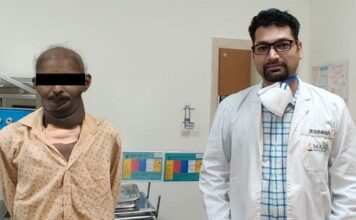 New Delhi: 3 kg tumor removed from 37-year-old man's face