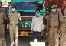 Etah: A smuggler with 225 cases of illegal country liquor arrested by Police Station Jathra