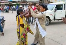 Mahoba: Dispute with PRD woman for not allowing vehicle at No Entry, rural woman created ruckus