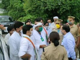 Congress state president Ajay Lallu stopped in Barabanki on his way to Ayodhya, taken into custody