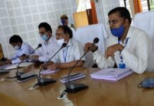 Monthly review meeting of development and administrative works held in Collectorate Auditorium