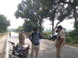 Aligarh: landed in Atrauli area to check vehicles - Prashant Singh