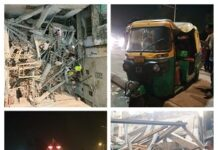A two-storey building collapsed in Delhi, three people injured in an auto collision