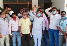 The state minister was assaulted, the cleaning workers protested when no action was taken