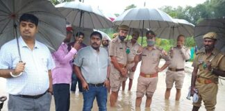 The flood waters of the Big Gandak River entered many villages