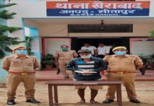 Notorious criminal top 10 criminal of Khairabad police station in Sitapur district arrested with pistol and cartridge