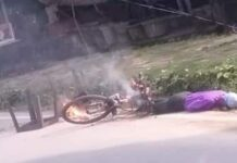 Nainital: Hypertension line falls on cycle rider, painful death on the spot
