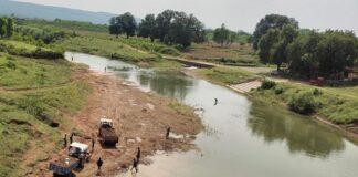 Madhya Pradesh: Orgy of sand mafio in Satna Sonwari river
