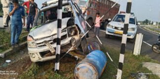 The accident occurred on Mooltai Fourlane 47, walking on the road, exercise had to be expensive, broken on the spot.