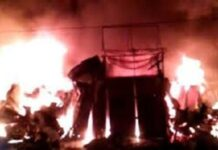 Bareilly: A fierce fire in the furniture market near Kumar Talkies, 25 shops burnt to ashes